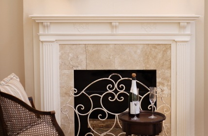 Decorative fireplace by TC's Blinds & Tile Services