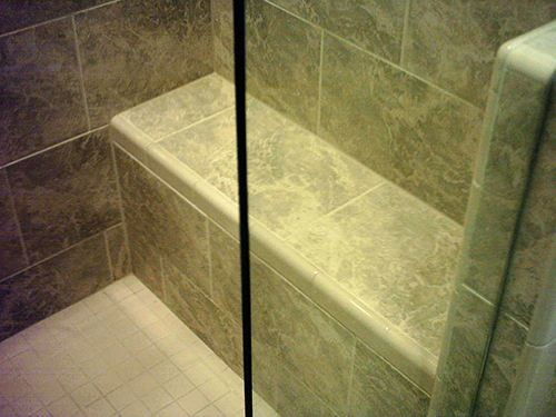 Bathroom Remodeling - Shower Rebuilding with shower seat in North Richland Hills, TX