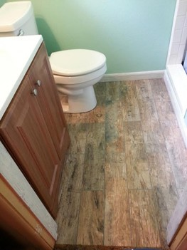 Floor Install for Bathroom Remodel North Richland Hills TX
